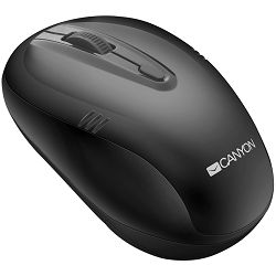2.4Ghz wireless mouse, optical tracking - red LED, 4 buttons, DPI 1000/1200/1600, Black