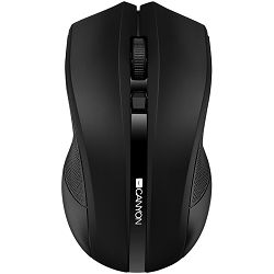 2.4GHz wireless Optical Mouse with 4 buttons, DPI 800/1200/1600, Black