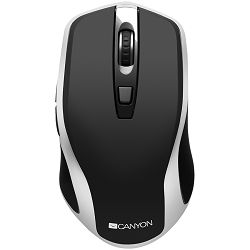 2.4GHz Wireless Rechargeable Mouse with Pixart sensor, 6keys, Silent switch for right/left keys,DPI: 800/1200/1600, Max. usage 50 hours for one time full charged, 300mAh Li-poly battery, Black -Silver