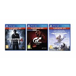 3 igre PS4: Gran Turismo+Uncharted 4:A Thiefs End+Horizon Z