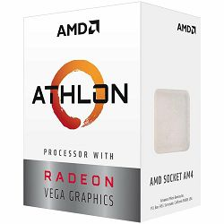 AMD CPU Desktop 2C/4T Athlon 220GE (3.4GHz,5MB,35W,AM4) box, with Radeon Vega Graphics