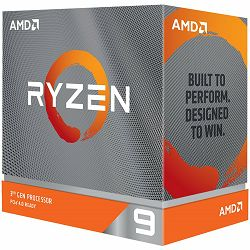 AMD CPU Desktop Ryzen 9 12C/24T 3900X (4.6GHz,70MB,105W,AM4) box with Wraith Prism cooler