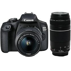 Canon EOS 2000D + 18-55mm IS + EF 75-300mm