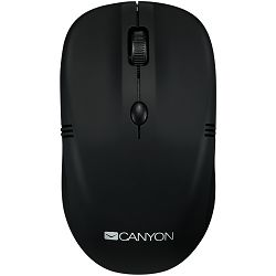 2.4Ghz wireless mice, 4 buttons, DPI 800/1200/1600, rubber coating black