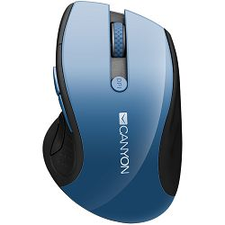 2.4Ghz wireless mouse, optical tracking - blue LED, 6 buttons, DPI 1000/1200/1600, Blue Gray pearl glossy