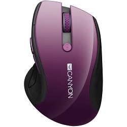 2.4Ghz wireless mouse, optical tracking - blue LED, 6 buttons, DPI 1000/1200/1600, Purple pearl glossy