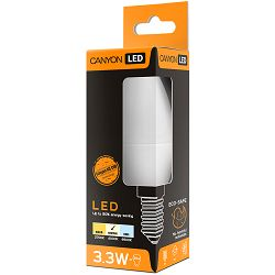 CANYON BE14FR3.3W230VN LED lamp, B38 shape, milky, E14, 3.3W, 220-240V, 150°, 262 lm, 4000K, Ra>80, 50000 h