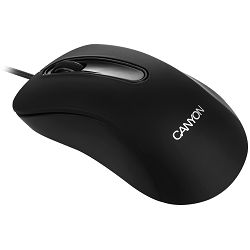 CANYON Mouse CNE-CMS2 (Wired, Optical 800 dpi, 3 btn, USB), Black