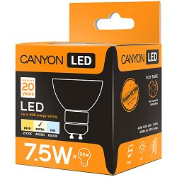 CANYON MRGU10/8W230VN60 LED lamp, MR shape, GU10, 7.5W, 220-240V, 60°, 594 lm, 4000K, Ra>80, 50000 h