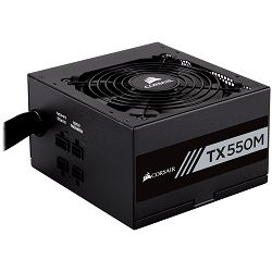 Corsair Enthusiast Series TX550 Watt Modular Power Supply 80 Plus Gold Certified, EU Version