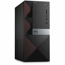 DELL Desktop Vostro 3668 Intel Core i7-7700(8MB Cache, 4.20 GHz), 8GB DDR4, 1TB SATA HDD, Integrated Intel HD 630, DVDRW, 2xUSB 3.0, 4x USB 2.0, HDMI, VGA, RJ-45, WiFi 802.11BGN, BT 4.0, Keyboard+Mous