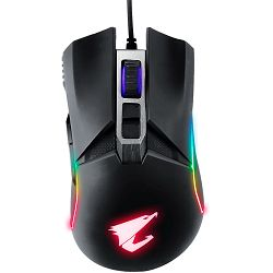 GIGABYTE GAMING AORUS M5 (Real 16000 dpi Optical Sensor Pixart 3389, Up to 400ips and 50G acceleration, Adjustable Weight and Balance, 50-million-click Omron Switch, RGB Fusion-16.7M Customizable Ligh