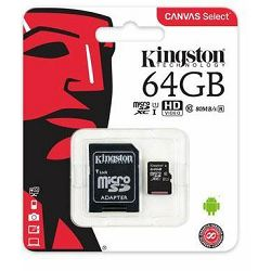Kingston MicroSDXC Class10 64GB
