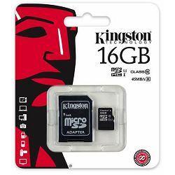 Kingston MicroSDHC CL10 16GB