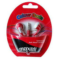 Maxell Stereo colour budz, red