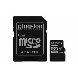 Memorijska kartica  Kingston SD MICRO 16GB Class 10 UHS-I +
