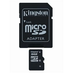 Memorijska kartica  Kingston SD MICRO 8GB HC Class 10 + SD a
