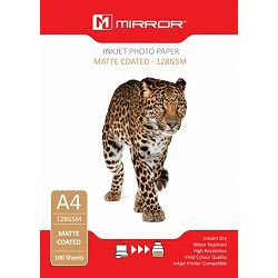 Mirror 128gsm Heavy Matt Photo Paper 100kom