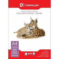 Mirror 140gsm Heavy Matt Photo Paper 100kom