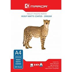Mirror 190gsm Heavy Matt Photo Paper 100kom