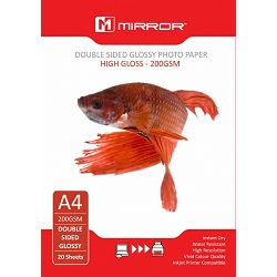 Mirror 220gsm Double Sided Glossy Paper 20kom