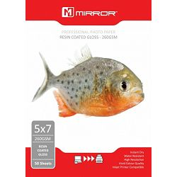 Mirror 260gsm Glossy Photo Paper 50kom 7x5