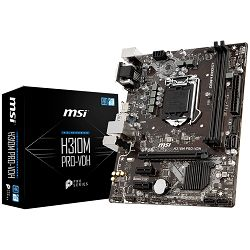 MSI Main Board Desktop H370 (S1151, DDR4, USB3.1, USB2.0, SATA III, HDMI, DVI-D, VGA - Requires Processor Graphics, 8-Channel(7.1) HD Audio with Audio Boost, Realtek 8111H Gigabit LAN) mATX Retail