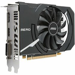 MSI Video Card AMD Radeon RX 550 OC GDDR5 2GB/128bit, 1082MHz/7000MHz, PCI-E 3.0 x16, DP, HDMI, DVI-D, Sleeve Fan Cooler(Double Slot) Retail