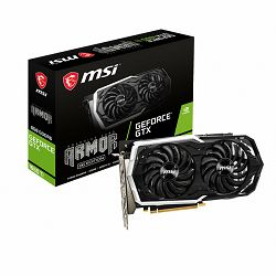 MSI Video Card NVidia GeForce GTX 1660 ARMOR 6G OC 1860 MHz/12 Gbps, 192-bit, DisplayPort x 3 (v1.4) / HDMI 2.0b x 1