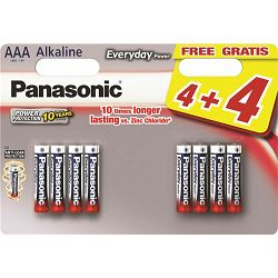 PANASONIC baterije LR03EPS/8BW 4+4F Alkaline Everyday Power