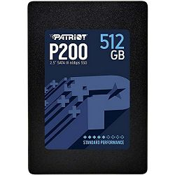 Patriot SSD P200 R530/W460, 512GB, 7mm, 2.5