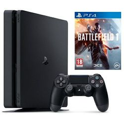 PlayStation 4 500GB Slim D Chassis Black  + Battlefield 1 PS4
