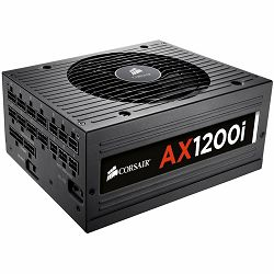 Power Supply CORSAIR AX Series AC 90-264V, 1200W, Retail, Active PFC, Cable Management, Automatic Fan Control, Efficiency 92%