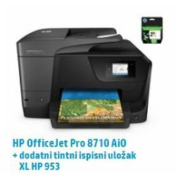 HP multfunkcijski pisač Officejet Pro 8710 AiO + XL crna tin