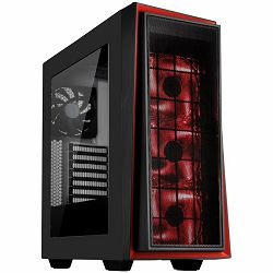 SilverStone REDLINE RL06 Midi Tower ATX Gaming Computer Case, Silent High Airflow Performance, Black with Red trim