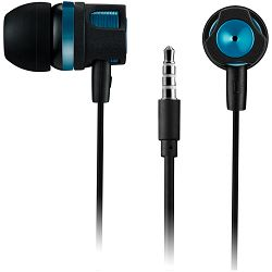 Stereo earphones with microphone, 1.2M, green