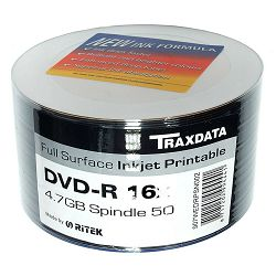 Traxdata DVD-R 16X 4.7GB Full face printable