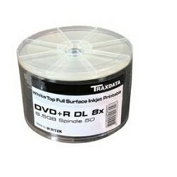 Traxdata DVD+DL 8.5GB 8x White Printable