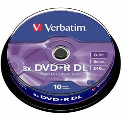 Verbatim DVD+DL 8X 8.5 GB Matt Silver