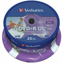 Verbatim DVD+R DL 8X 8.5GB Full Face White Printable