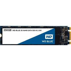 Western Digital 250GB SSD, Blue 3D, M.2 SATA